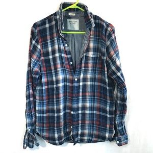 Abercrombie & Fitch Muscle Two layer flannel sz L